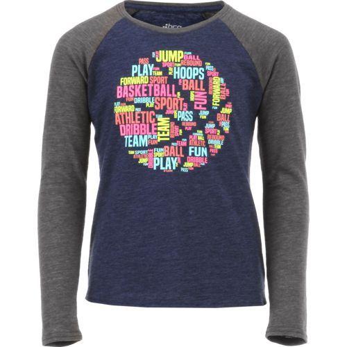 Bcg Girls Basketball Verbiage Raglan Long Sleeve T Shirt Navy Size X Small Girl S Apparel Girl S Athle Basketball Shirts Gaming Clothes Basketball Girls