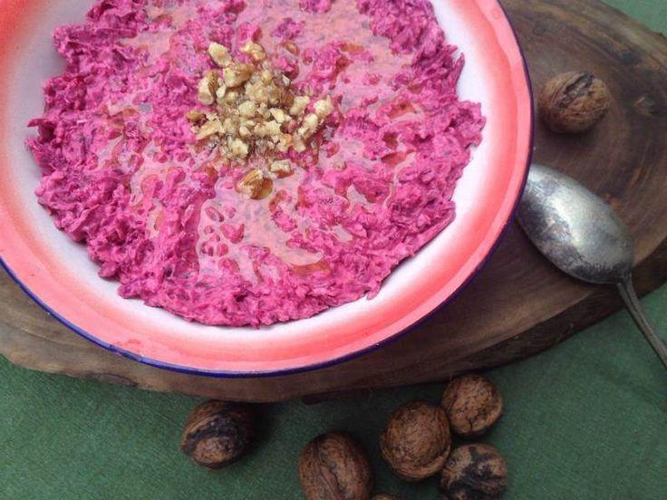 Süzme Yoğurtlu Kırmızı Pancar Salatası                        -  Sibel Göktürk #yemekmutfak