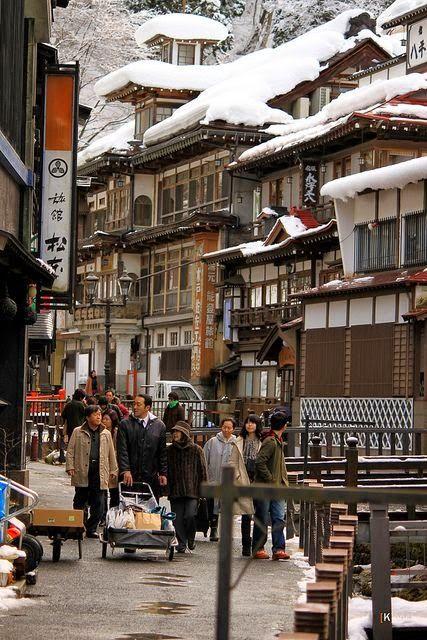 Ginzan-Onsen hot springs ~ Yamagata-Ken, Japan