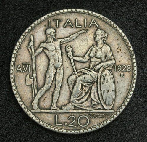 Italian silver coins - 20 Lire