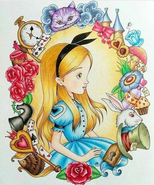 Алиса в стране чудес детские рисунки