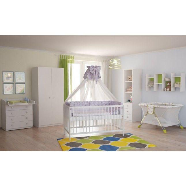 Simple  Polini Kids Babyzimmer Kinderzimmer komplett Set wei teilig Polini Kids