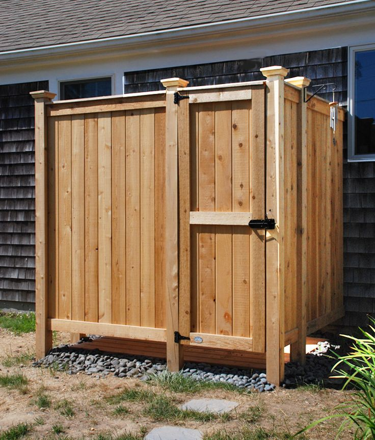 The 25 best outdoor shower kits ideas on pinterest pool for Garden enclosure ideas