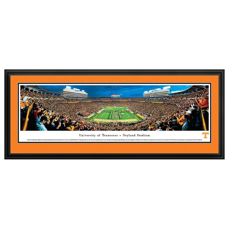 Tennessee Volunteers Football Stadium Power T Framed Wall Art, Multicolor