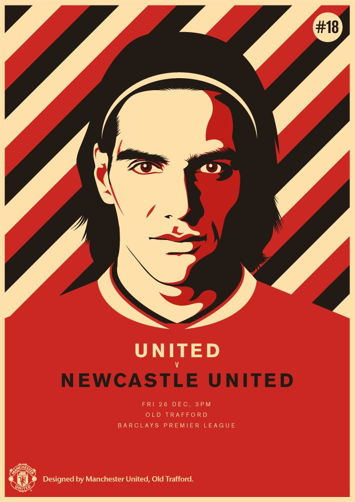 Match poster: Manchester United vs Newcastle United, 26 December 2014. Designed by @manutd.