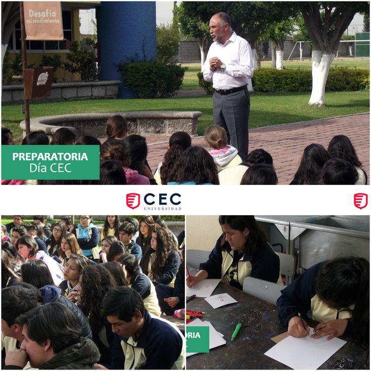 Día CEC. Alumnos de preparatoria en actividades universitarias.