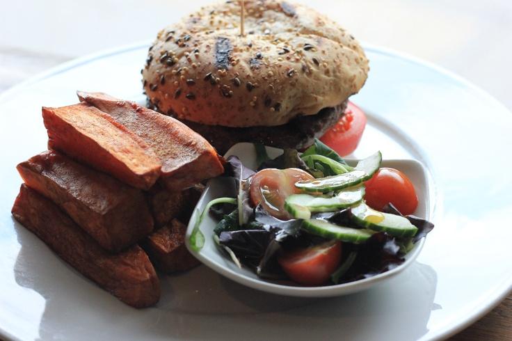 springbok burger from Vivat Bacchus!