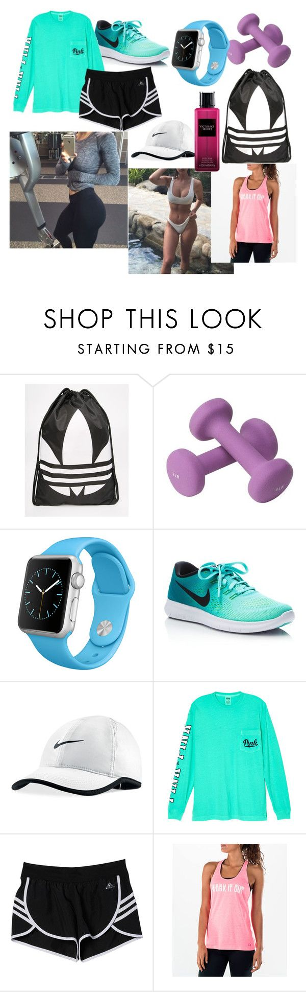 """Work out"" by isobeld-co-nz ❤ liked on Polyvore featuring adidas, Apple, NIKE, Victoria's Secret and Under Armour"