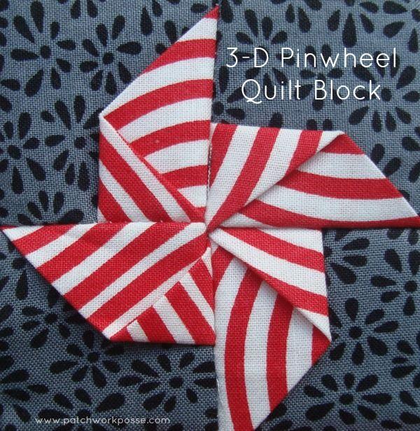 3-Dimensional Pinwheel Quilt Block