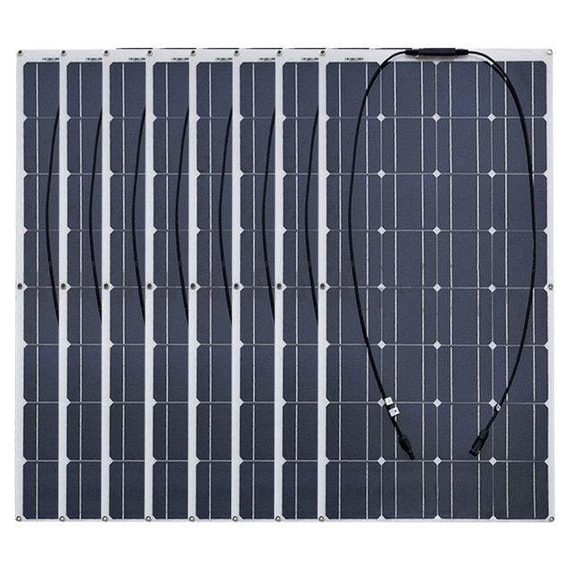 Boguang 8pcs 100w Monocrystalline Semi Flexible Solar Panel 800w Cell Kits House Camping Rv Ya Flexible Solar Panels Best Solar Panels Residential Solar Panels