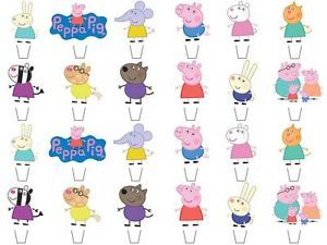 24 x Peppa Pig & Friends STAND UPS Fairy Cup Cake Toppers Edible Rice Paper | eBay