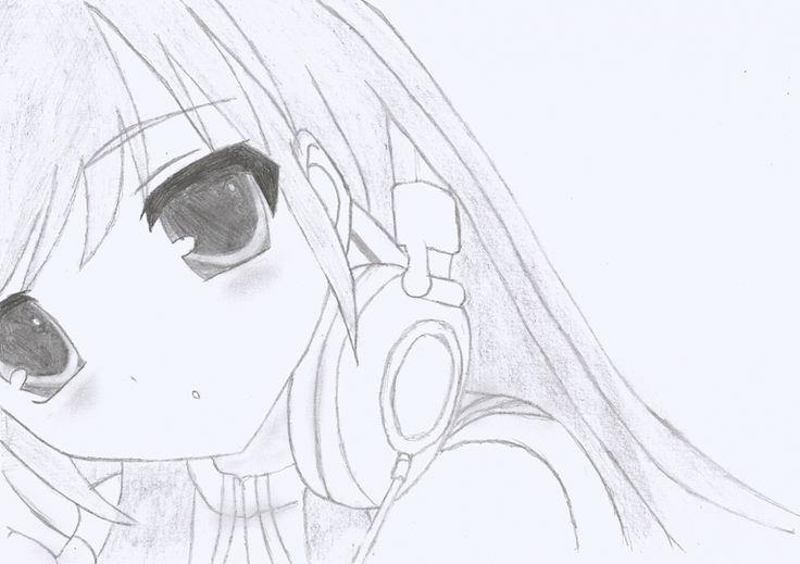 Anime Girl Drawing | Headphones Anime Girl By Sluierstaartje | Animemanga | Pinterest | Anime ...