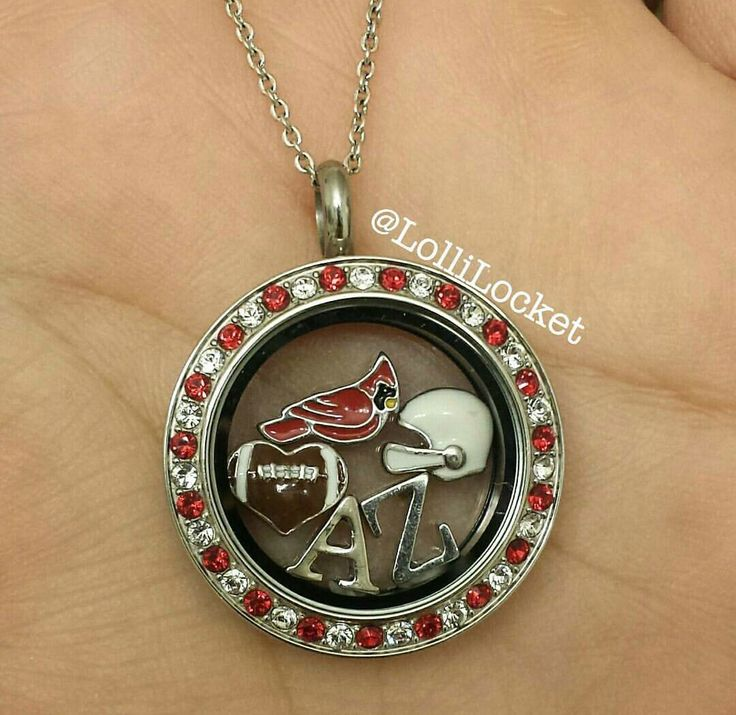 Origami Owl. Arizona Cardinals. Football. -£H