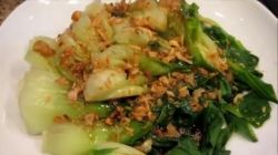 Steamed Bok Choy with Garlic Soy Sauce
