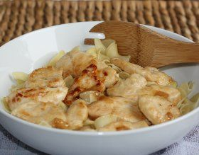 lemon butter chicken with noodles