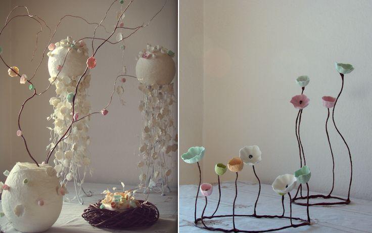 allestimenti-design-ecologico-matrimonio-green-cartapesta-fiori di carta-Pasqua