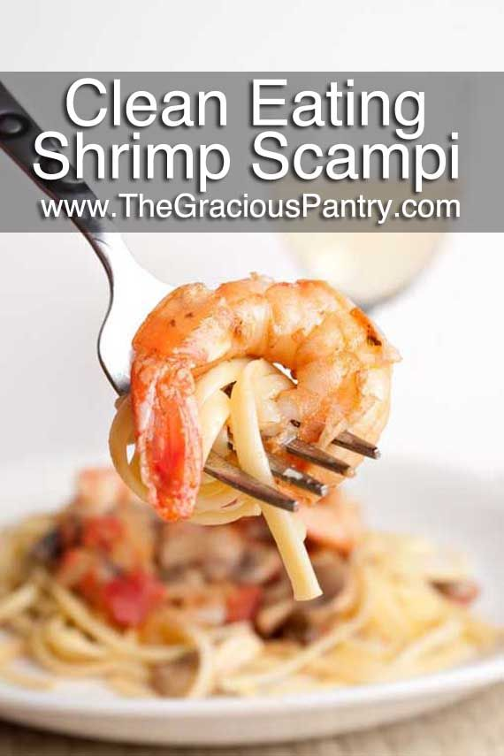 Clean Eating Shrimp Scampi. It's what's for dinner.