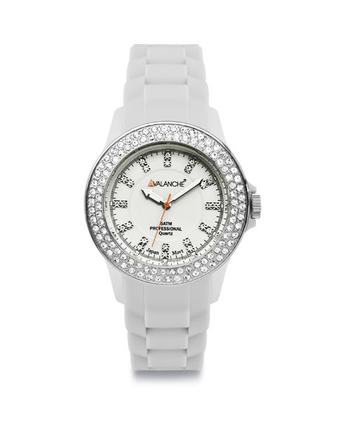 Unisex ρολόι AVALANCHE Bliss White Plasteramic Strap AV-107S-WH-44 - Αργυρίου. AVALANCHE ΡΟΛΟΓΙΑ Ρολόι Avalanche από ανοξείδωτο ατσάλι με λευκό καντράν και λευκό μπρασελέ.