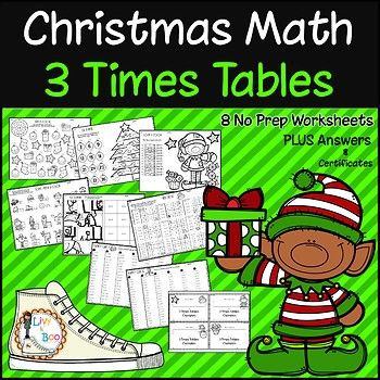 Help your kids master multiplication concepts and facts with these fun Christmas themed 3 times tables worksheets. No prep - just print and go! Lots of practice.... Your students will become 3 times tables champions in no time! Includes: - 8 No prep worksheets - Answer