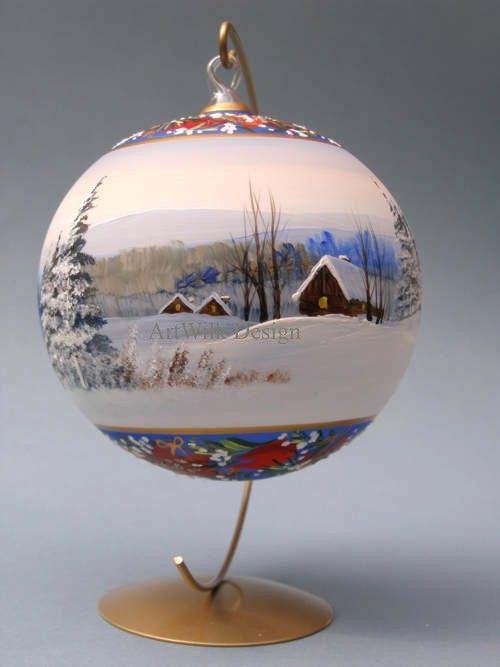 Glass Christmas balls by ArtWilk