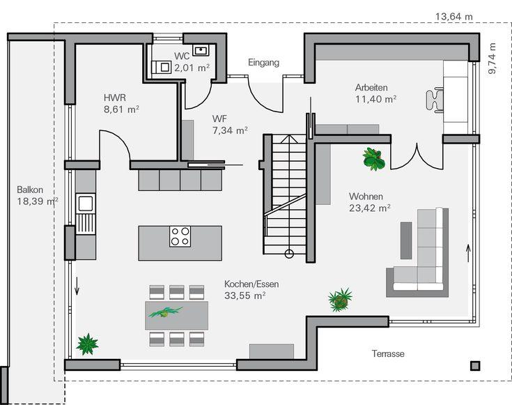 Grundriss einfamilienhaus architekt  87 besten Häuser Bilder auf Pinterest | Moderne häuser, Hausbau ...