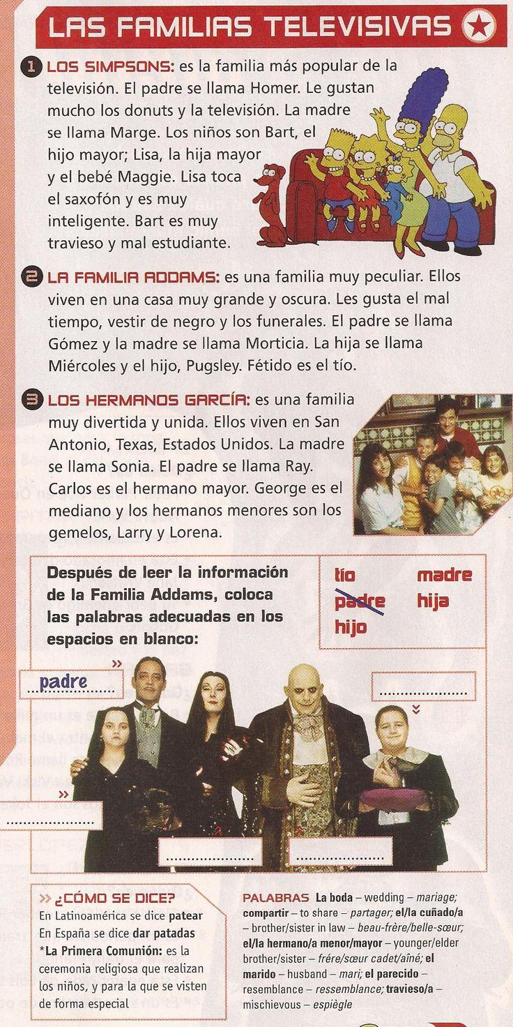 best images about spanish familia unit family tv families