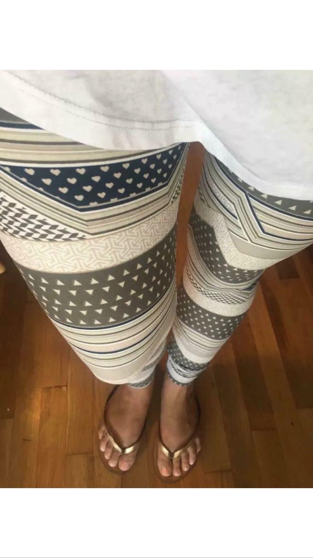 Grey stripes lularoe leggings