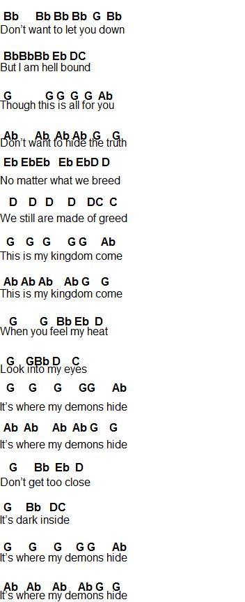 Flute Sheet Music: Demons