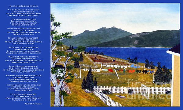 The Clothesline by Barbara Griffin
