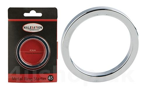 Malesation Metal Ring Starter - 45 mm - Forkromet aluminium - penis ring