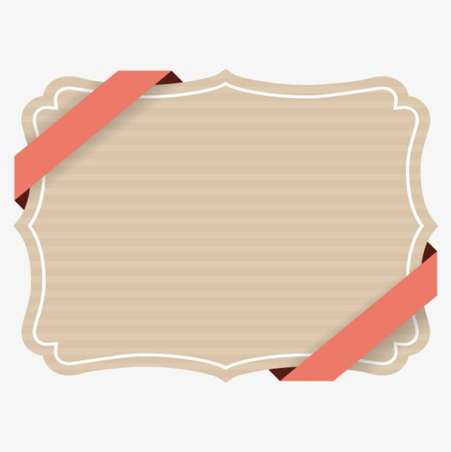 Brown Decorative Ribbon Border Vector Ribbon Cartoon Ribbon Cartoon Streamer Png Transparent Clipart Image And Psd File For Free Download Black Texture Background Background Design Ribbon Png