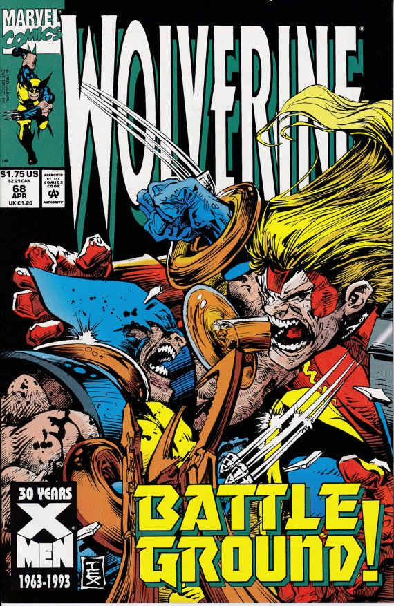 Wolverine 68 April 1993 Issue Marvel Comics Grade by ViewObscura