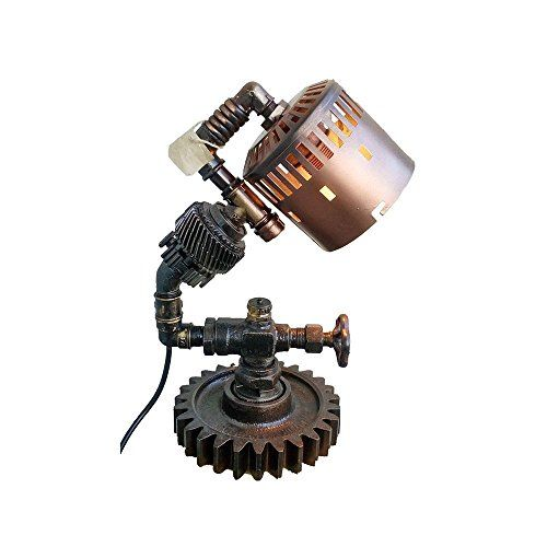 Steampunk industrial lamps Metal industrial lamp Edison lamps Steampunk lamp designs Industrial art lamps Industrial age lamp Rustic lamp Machine Age Lamp amazon gifts