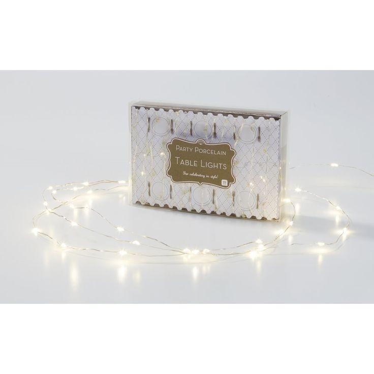 επιτραπέζια φωτάκια, λευκά φώτα, διακόσμηση, χριστούγεννα, χριστουγεννιάτικη διακόσμηση, διακόσμηση τραπεζιού-Είδη Πάρτι και Διακόσμησης - Happy Teapot