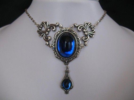 Set NECKLACE/EARRINGS Victorian/Renaissance/Gothic/Medieval/Wedding/Prom/Edwardian/Ren/ Choix couleur et grandeur