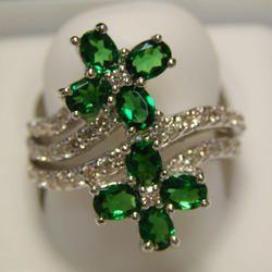 Snake Diamond Studded Gold Rings