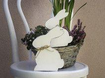 Osterhasen aus Holz - Set