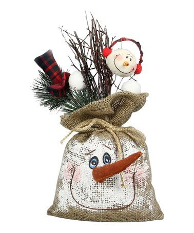 This Snowman Burlap Sack Décor - Set of Two is perfect! #zulilyfinds