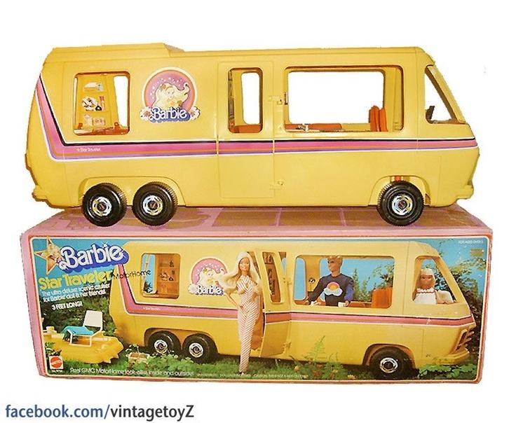 Barbie van. What Barbie stuff DIDNT I have? Lol