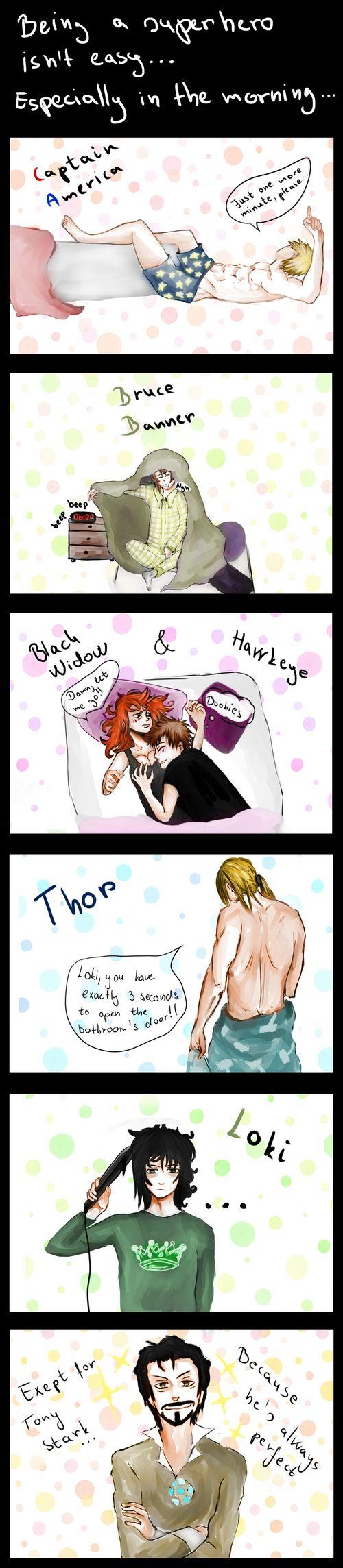 I love how Loki's doing his hair.