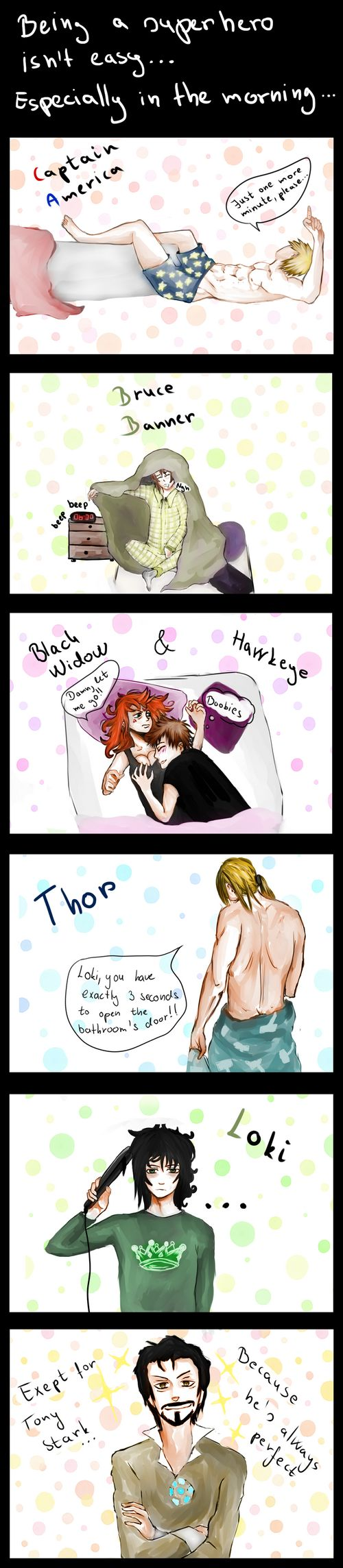 Hahaha.. just loki straightening his hair.. haha yesh>>> he kinda looks like nico di Angelo