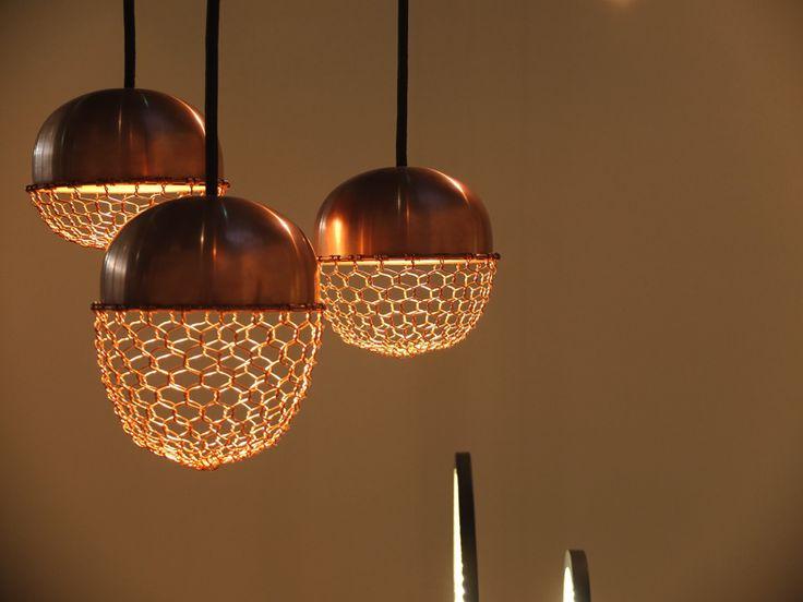 Kenji Ushima Design Fuses Wire Mesh, Copper Mesh Lamp Shade