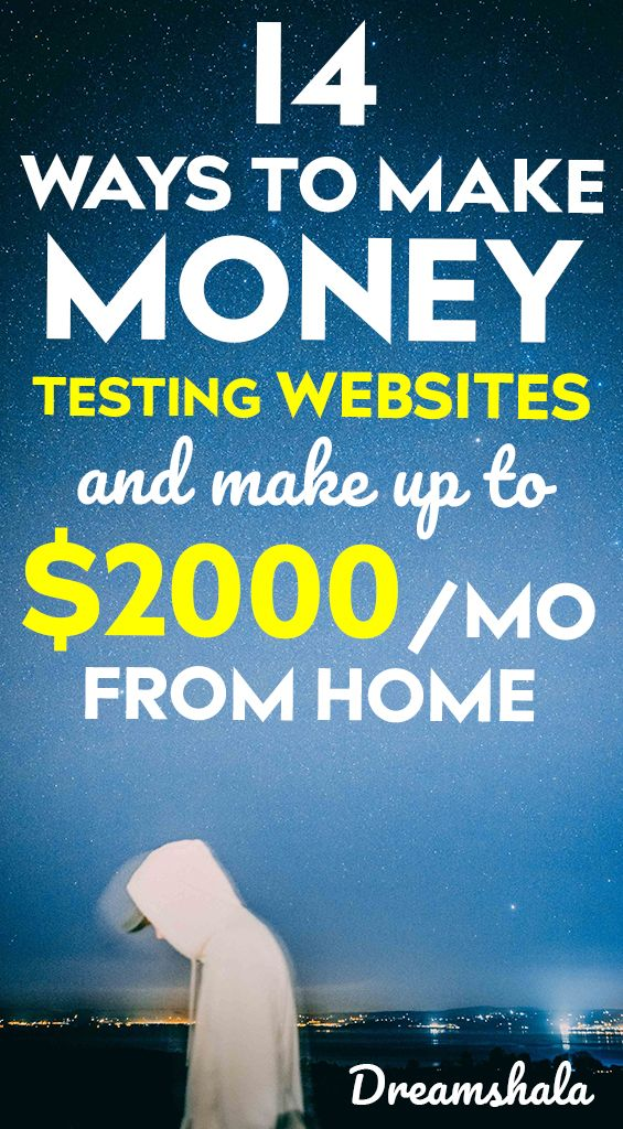 14 ways to make money testing websites and make up to $2000 per month from home – Siva | Dreamshala | Blogging, Social Media, Online Marketing Updates, WAH Jobs.