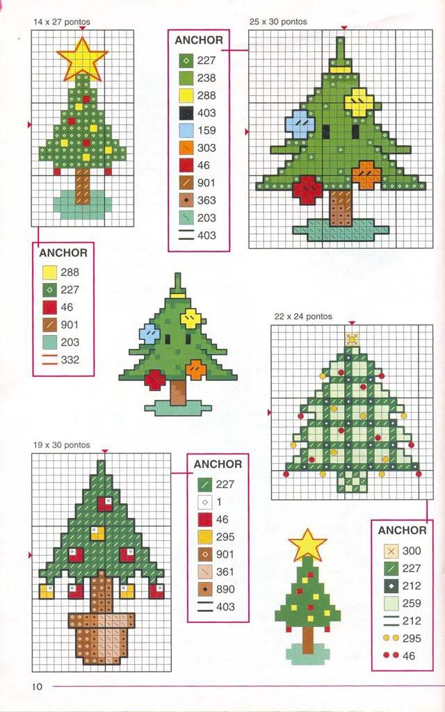 Christmas trees perler bead pattern