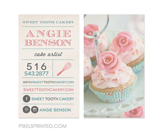 11 best bakery card ideas images on pinterest bakery business custom bakery business cards thick color both by pixelsprinted reheart Image collections