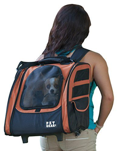 Pet Gear I-GO2 Traveler Roller Backpack for cats and dogs Copper