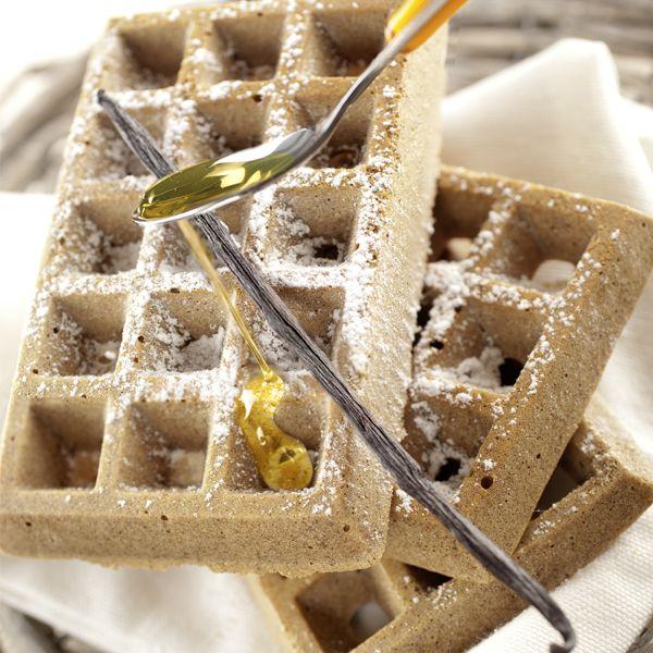 Découvrez les gaufres à la farine de châtaigne, sans gluten et sans lactose ! #Recette
