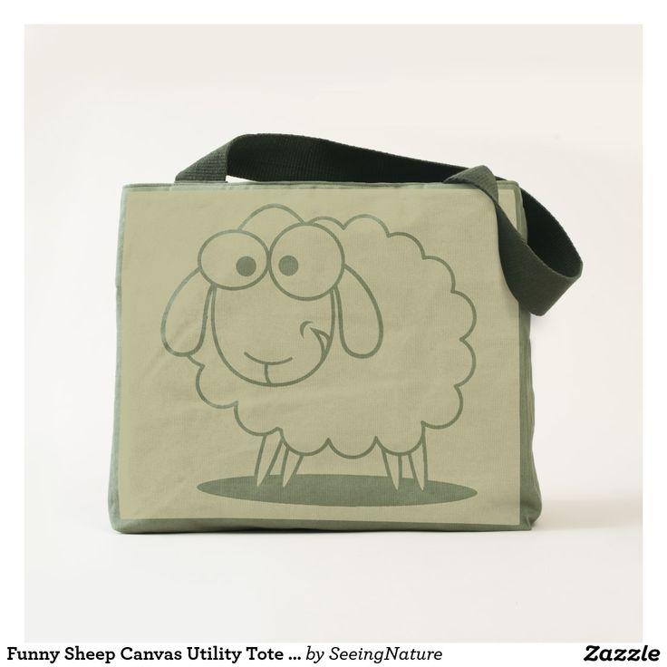 Funny Sheep Canvas Utility Tote Bag