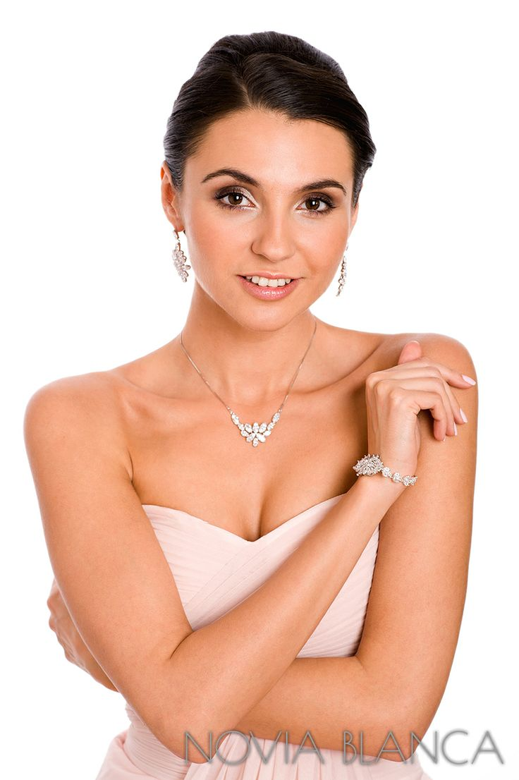 biżuteria ślubna bridal jewelry  by www.novia-blanca.pl