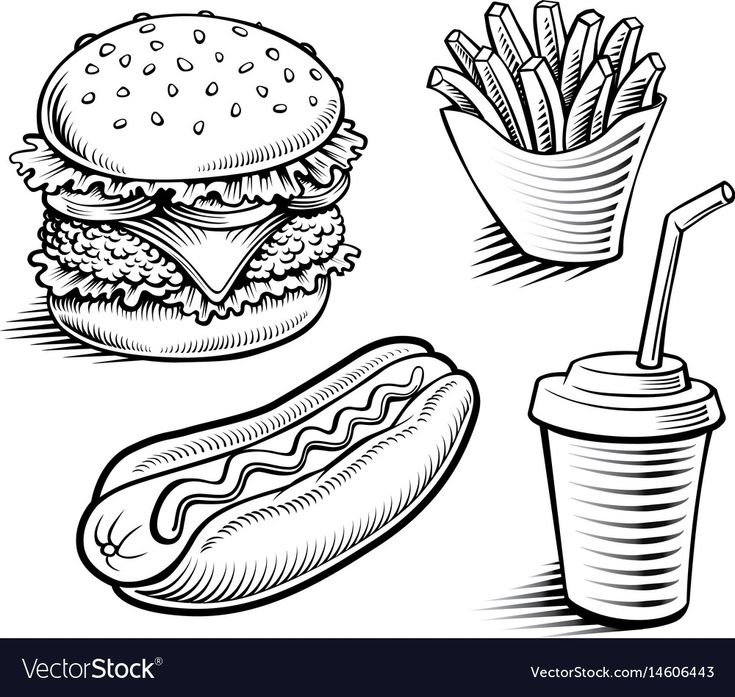 Hamburger Clipart Black And White In 2021 Clipart Black And White Clip Art Food And Drink